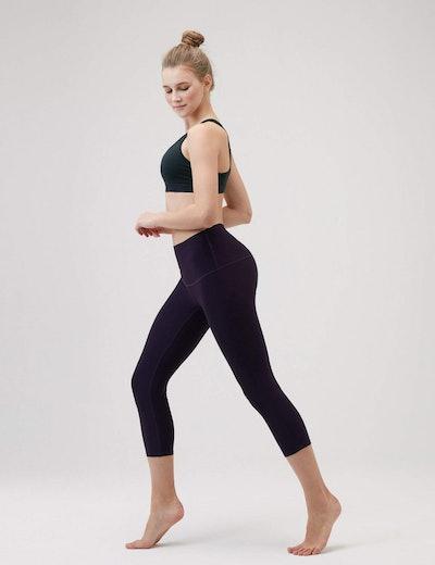 TSLA High-Waist Yoga Pants With Hidden Pocket