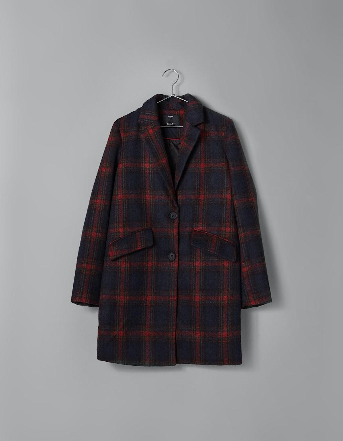 Straight Cut Wool Coat