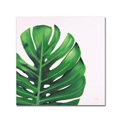 Trademark Fine Art 'Statement Palms IV' Canvas Art by Wellington Studio