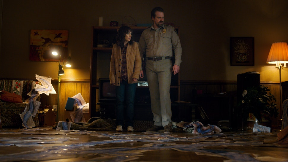 83e178d5e David Harbour's 'Stranger Things 3' Spoilers Hint That Joyce & Hopper Could  Finally Happen, But It Won't Be Easy