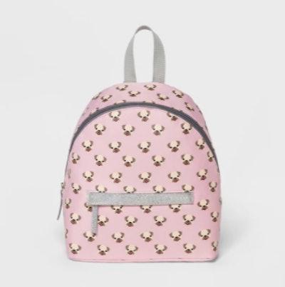 Kids Emoji Pug Backpack