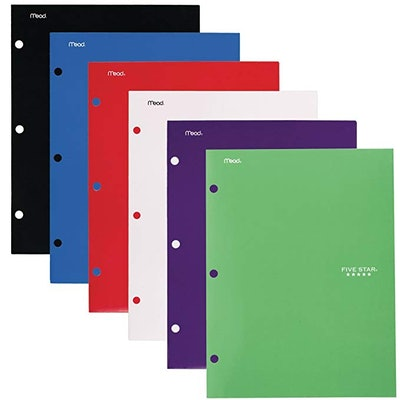 Five Star 4 Pocket Folders, 6 Pack