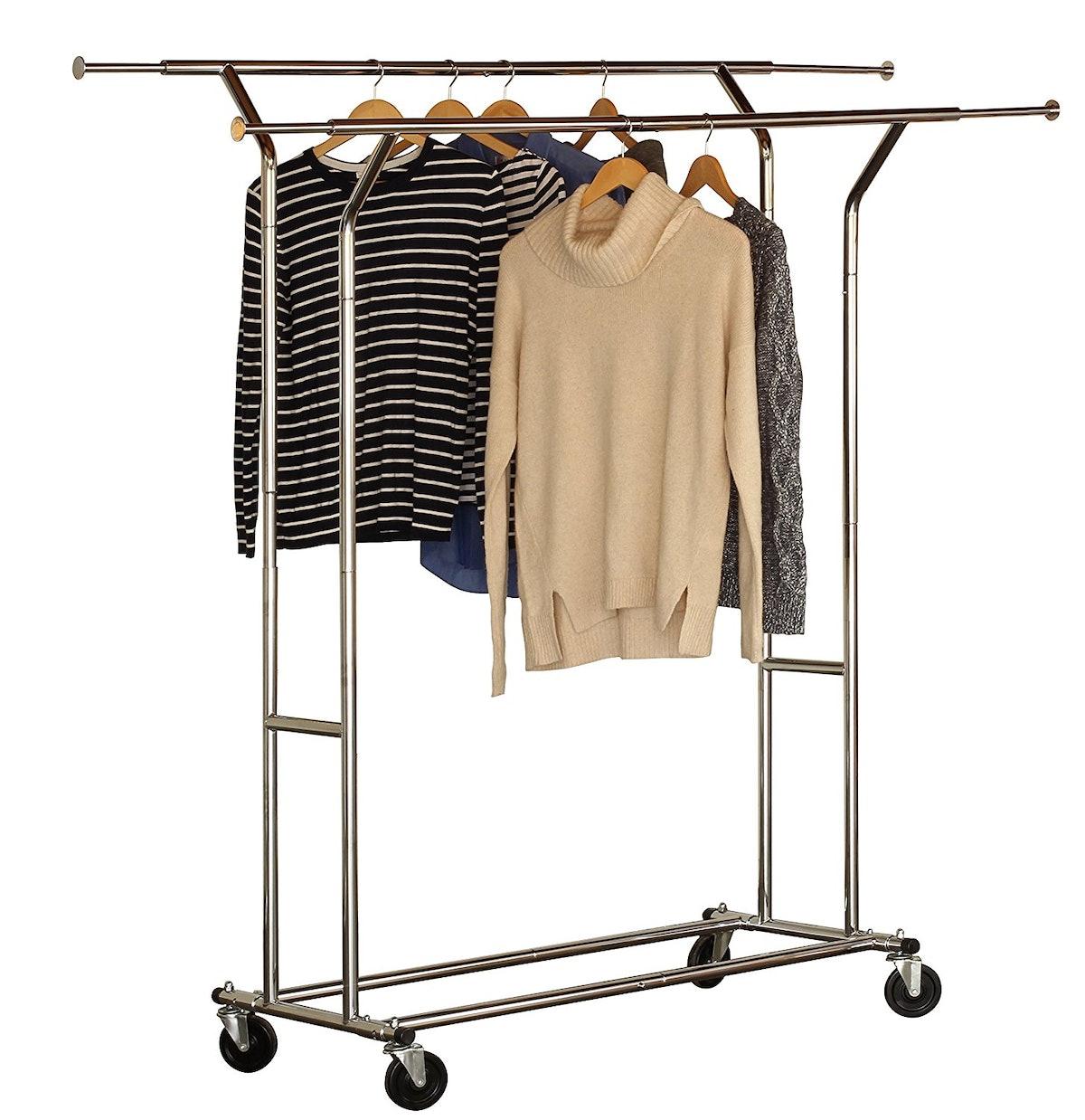 DecoBros Double Rail Garment Rack