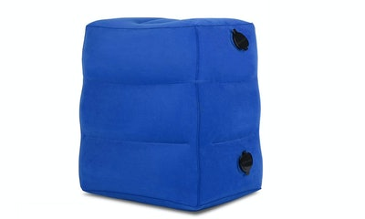 HAOBAIMEI Inflatable Travel Foot Rest Pillow