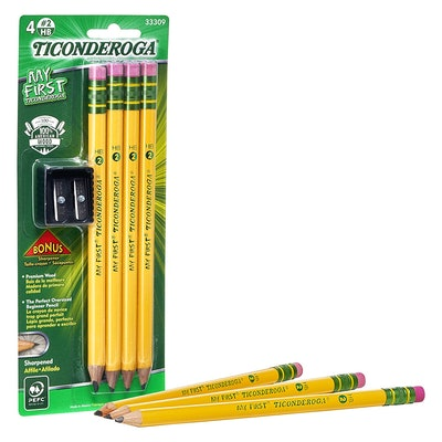 Ticonderoga Wood-Cased My First Pencils