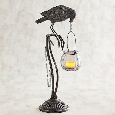 Halloween Raven Tea Light Candle Holder