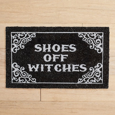 Shoes Off Witches Halloween Doormat