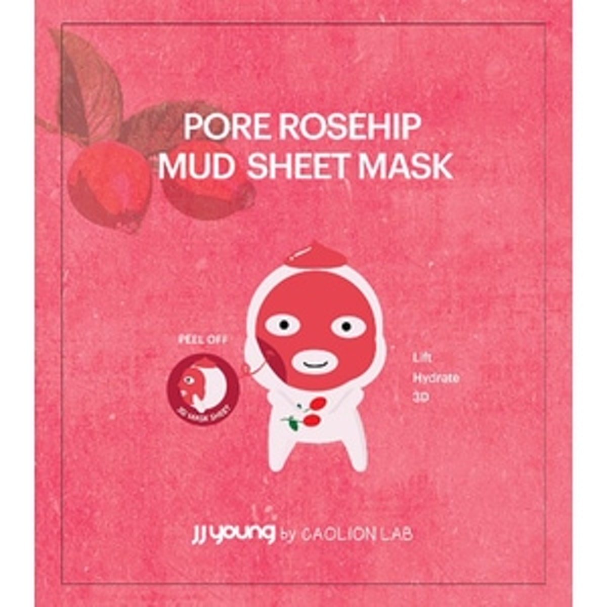 JJ Young by Caolion Lab Pore Rosehip Mud Face Sheet Mask