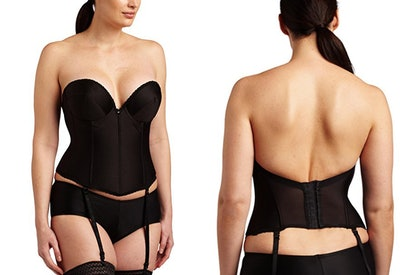 Carnival Low Plunge Backless Satin Corset Bra (Sizes 32B-40D)