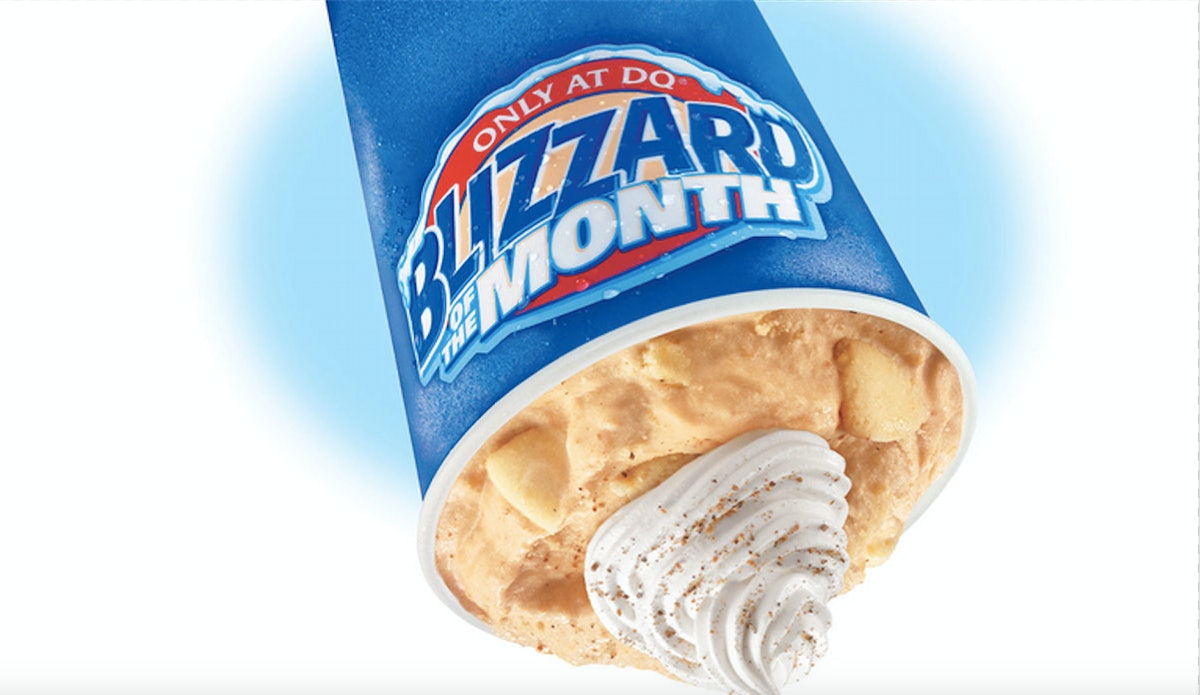 Dairy Queen Has A Pumpkin Pie Blizzard With Legit Chunks Of Pumpkin Pie Inside