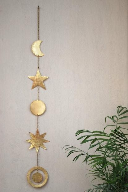 Brass Wall Hanging Celestial Wall Decor