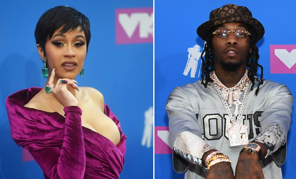 Cardi B Reveals Huge Offset Tattoo Of Husband S Name On: The Reason Offset Got Mad At Cardi B At The 2018 VMAs Was