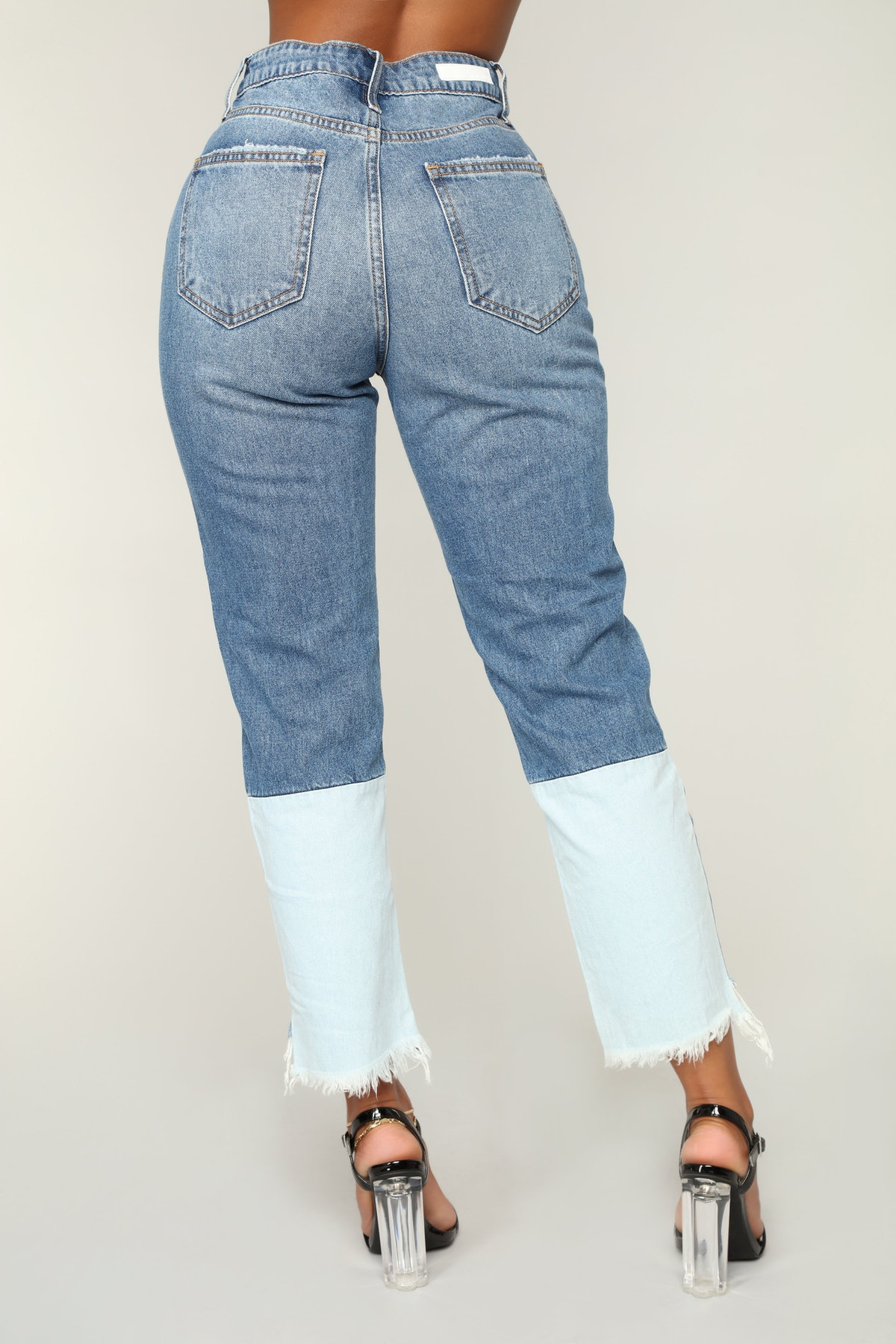 Up To Here High Rise Jeans — Medium Blue Wash
