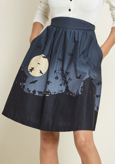 Hint Of Haunted Cotton Skirt