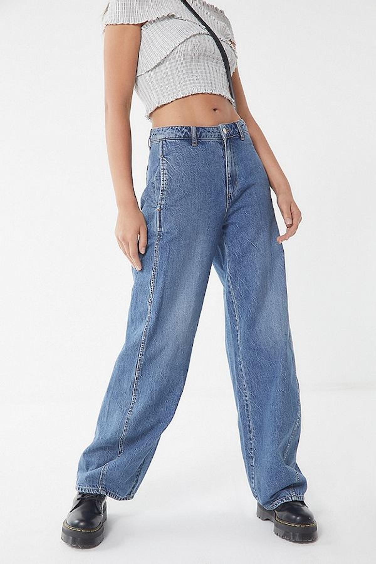 BDG Lisa High-Rise Tapered Wide Leg Jean — Tinted Denim