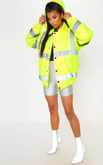 Neon Yellow High Vis Coat