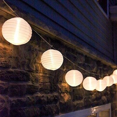LampLust White Outdoor Mini-Lantern String Lights