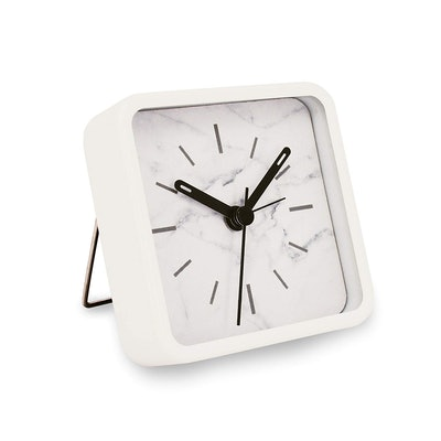 Slash Modern Small Marble Pattern Clock
