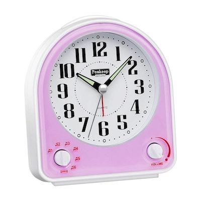 Peakeep Non-Ticking Silent Alarm Clock