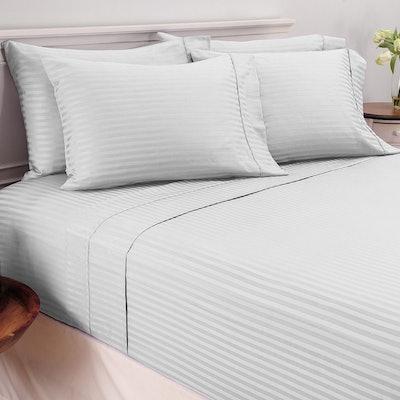 Mellani 100% Egyptian Cotton Striped Bed Sheet Set