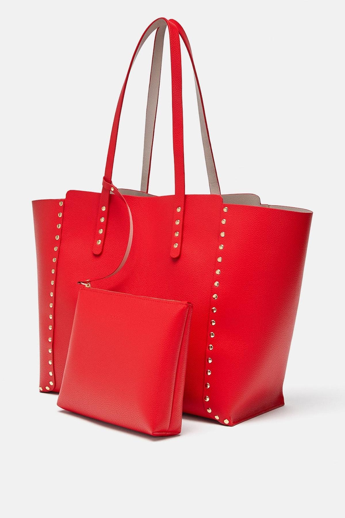 Studded Reversible Shopper Bag