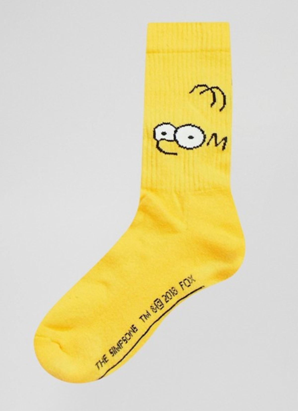 'The Simpsons' x ASOS DESIGN Homer & Bart 2 pack socks