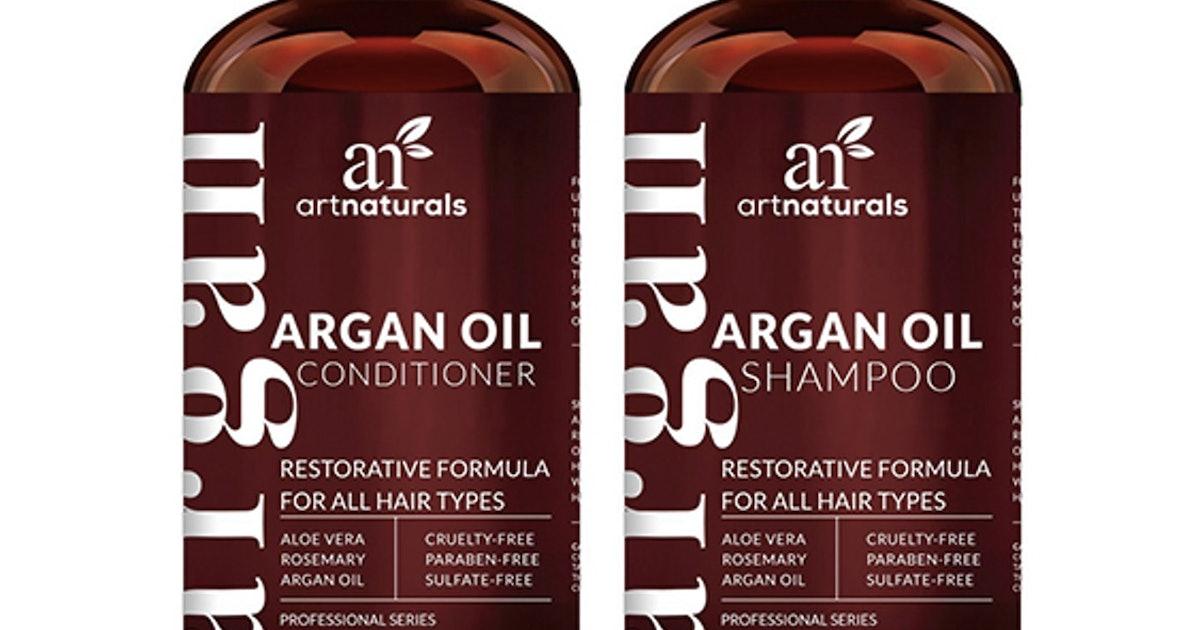 Art Naturals Organic Moroccan Argan Oil Shampoo & Conditioner Set