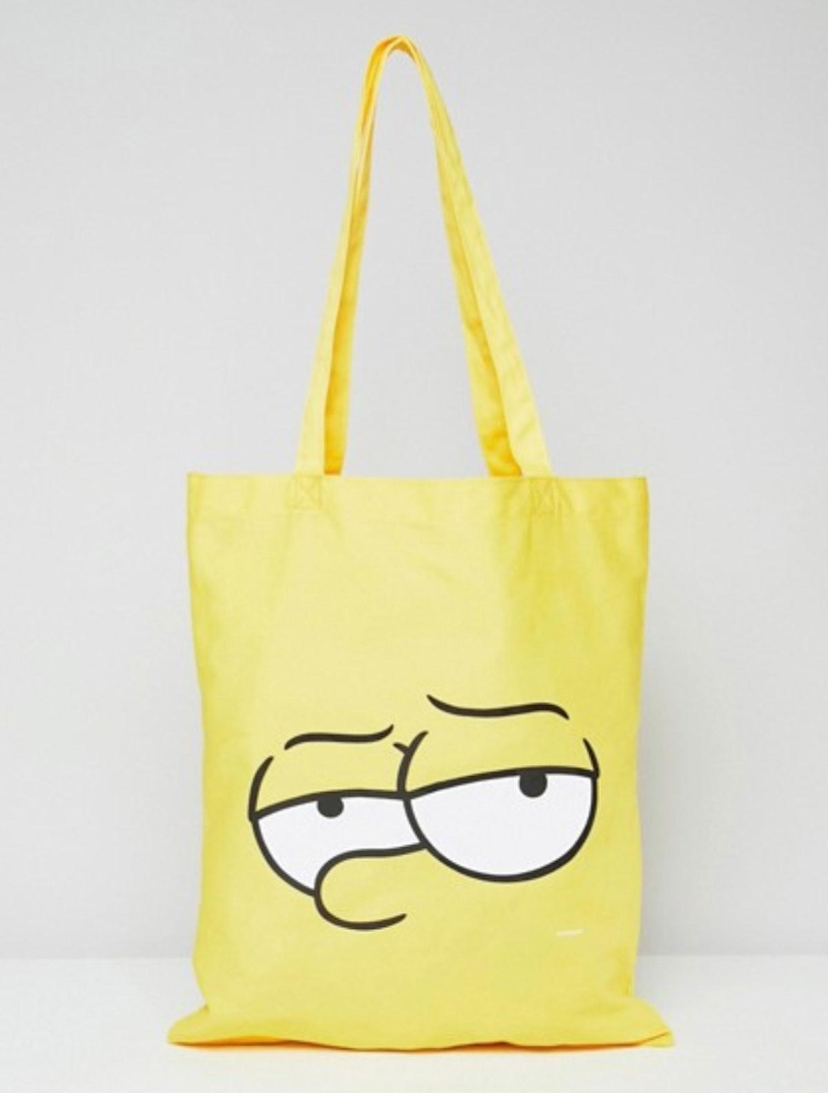 'The Simpsons' x ASOS DESIGN Bart tote bag