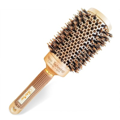 Round Vented Hair Brush with Natural Boar Bristles