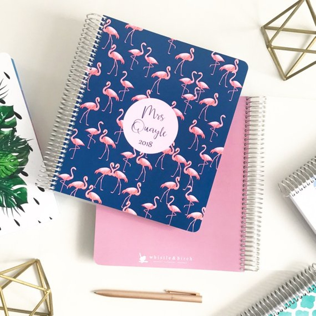 Whistle And Birch Flamingo Planner