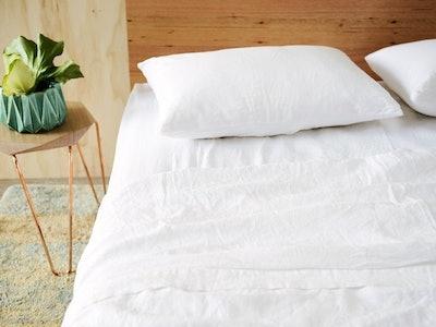 Merryfeel Luxurious 100% Pure French Linen Sheet Set (Twin-King)
