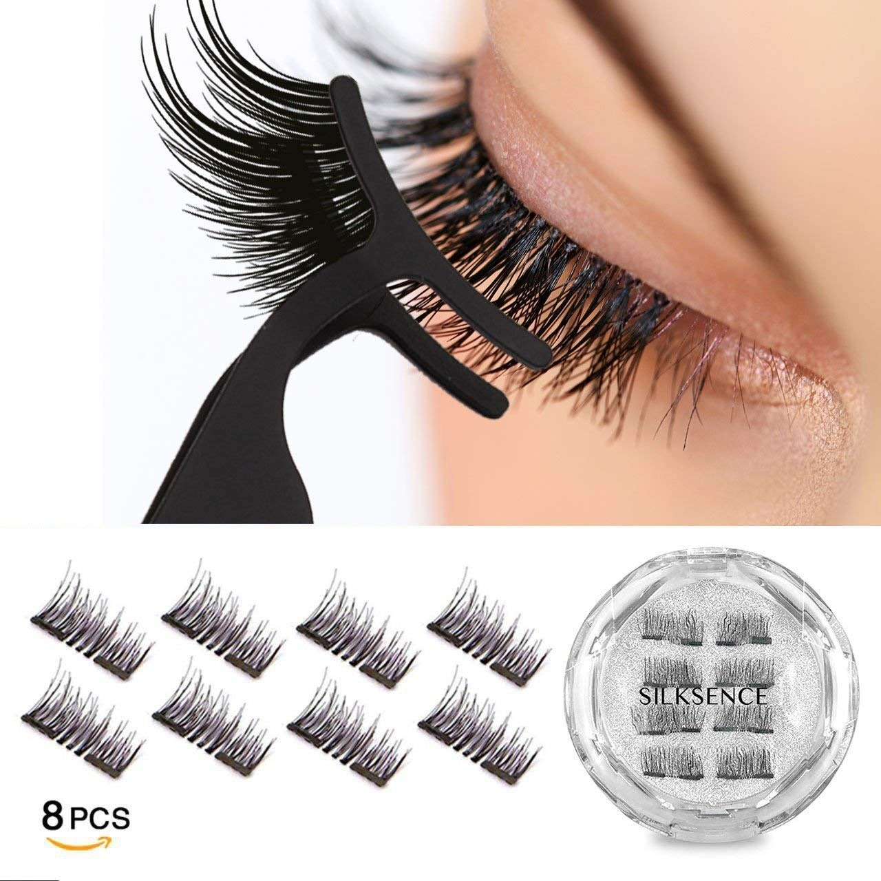 Hearty Handmade 1 Pair 3d Double Magnetic False Eyelashes Makeup Reusable Natural Full Strip Fake Magnet Eye Lashes Extension Cosmetic Beauty Essentials