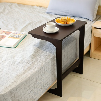 Homfa Bamboo Bed Side Table Laptop Desk