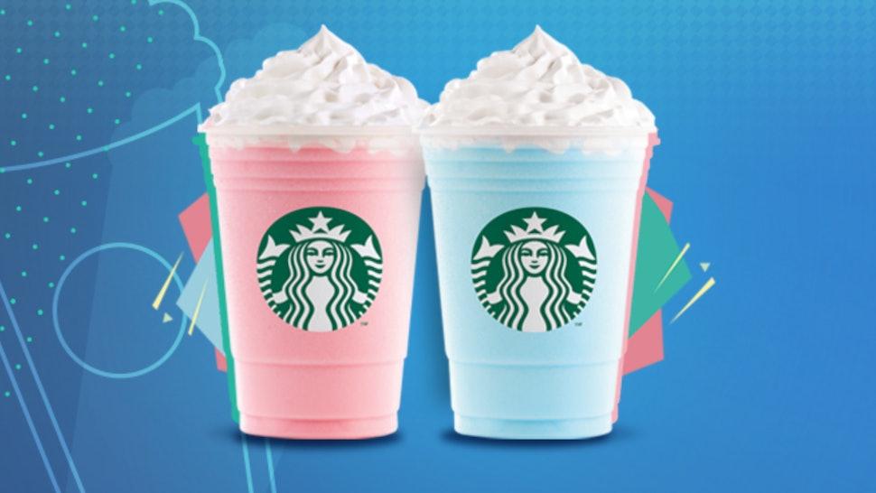 Bubble Gum Cotton Candy Frappuccinos At Starbucks Mexico
