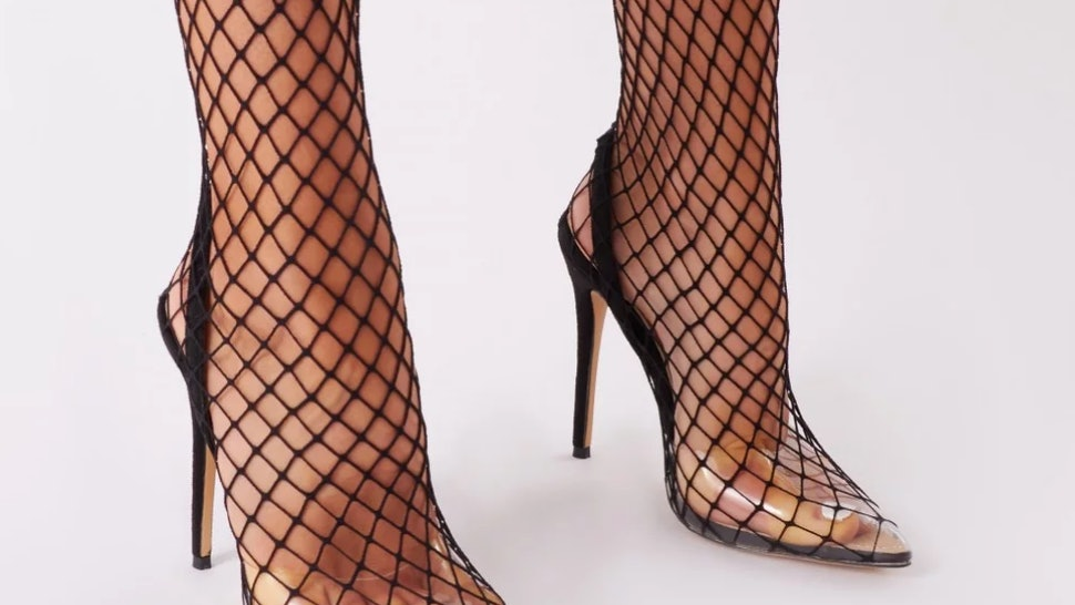 252d69fd739 Where To Buy Kylie Jenner's Naked Black Fishnet Heels For Only $50