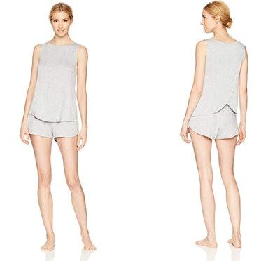 Mae Women's Sleeveless Split Back Pajama Set