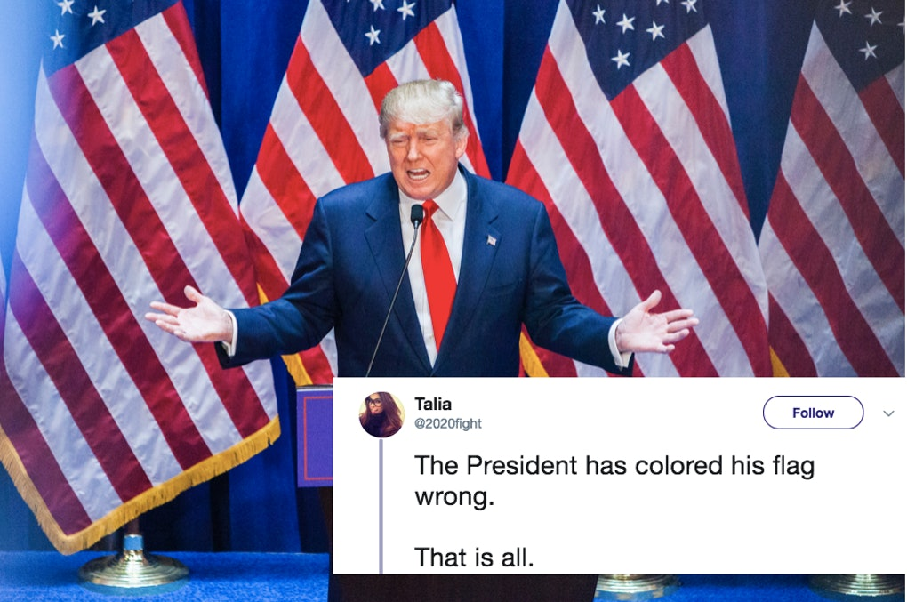 These Tweets About President Trump Coloring The American Flag Wrong