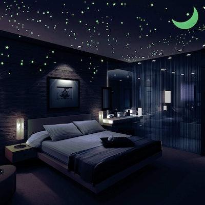 Airbin Glow in The Dark Stars Decals Stickers
