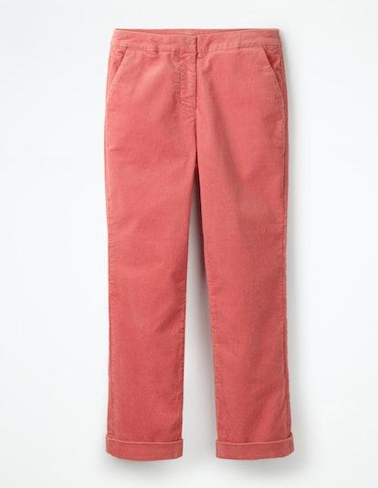Cord Straight Leg Pants in Blush