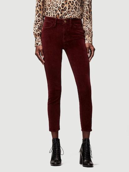 Le High Velveteen Skinny in Pinot,