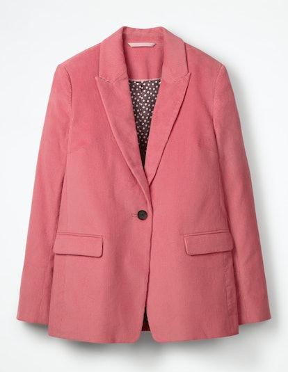Oxshott Cord Blazer in Blush
