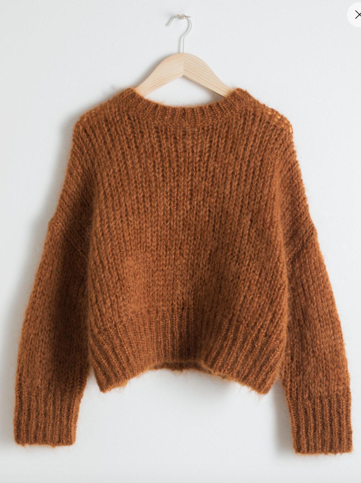 Wool Blend Chunky Knit Sweater