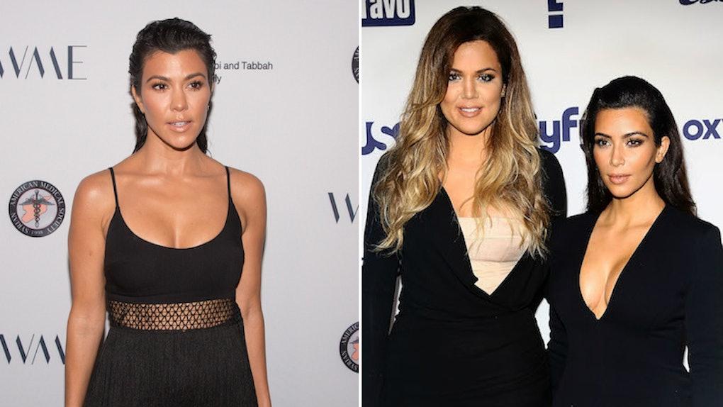 19b5870457fe Kourtney Kardashian's Relationship With Kim & Khloe On 'KUWTK' Vs. Real  Life Is Different
