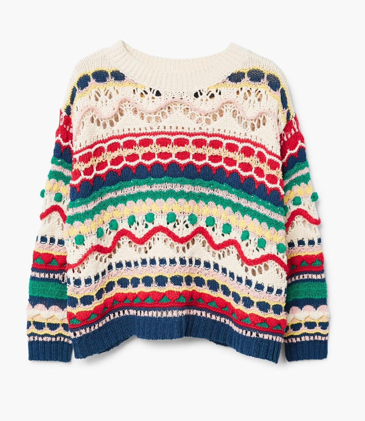Textured Multicolor Sweater