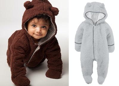 Magnificent Baby Unisex-Baby Infant Cream Hooded Bear Pram