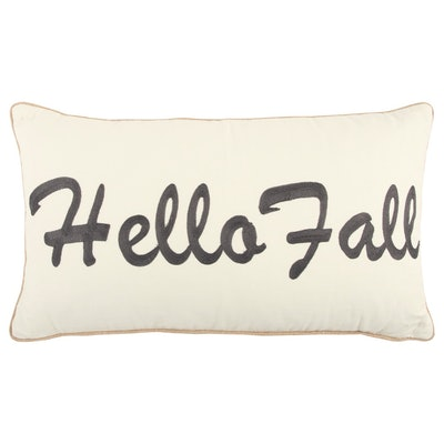 """Rizzy Home Fall Harvest """"Hello Fall"""" Quotes/Sayings Decorative Throw Pillow"""