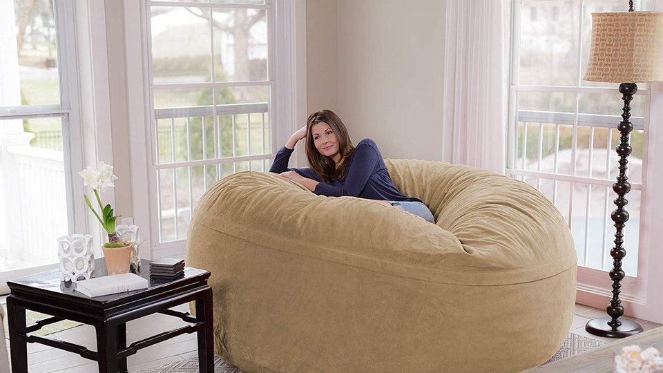 Groovy This Giant 8 Foot Beanbag Chair On Amazon Is Called A Squirreltailoven Fun Painted Chair Ideas Images Squirreltailovenorg