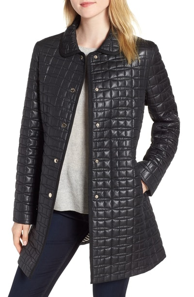 Kate Spade New York Bow Quilter Coat
