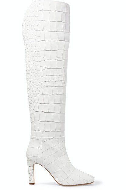 Gabriela Hearst Linda Croc Effect Leather Over-the-Knee Boots
