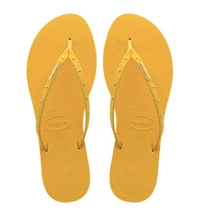 You Maxi Flip Flops Mustard